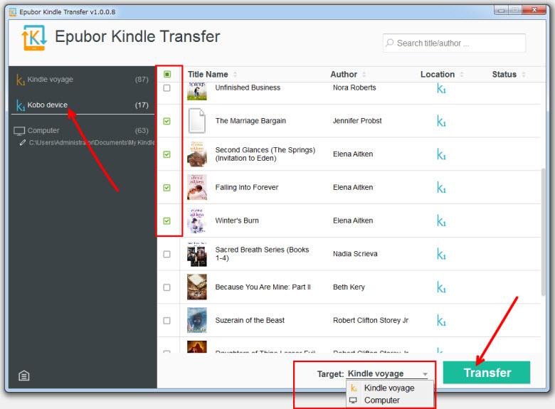 Kobo Kindle互換の方法