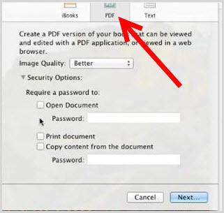 .ibooksからpdfへ変換