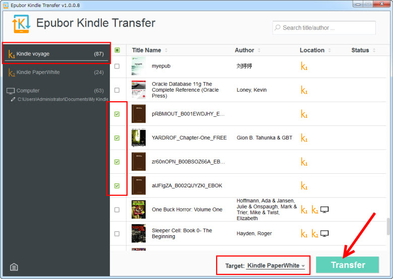 Kindle 転送でKindle本を転送